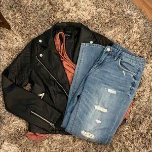 WHBM White House Black Market Distressed Jeans